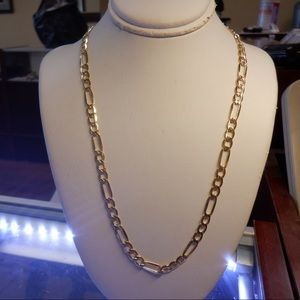 14k solid real yellow gold stamped NEW Figaro